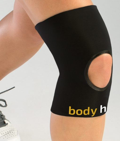 Black Open Knee Compression Sleeve
