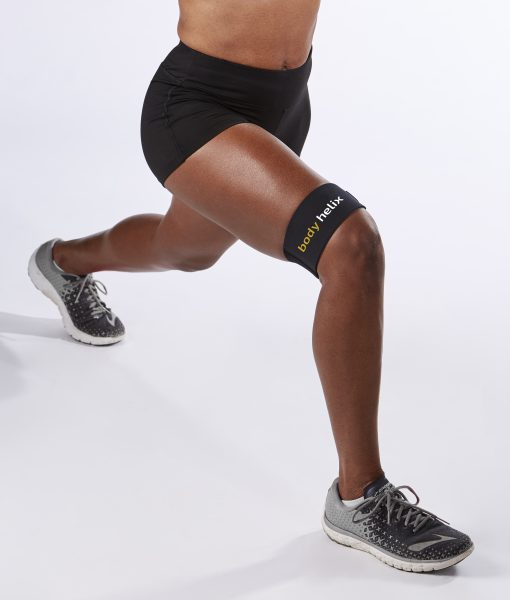 black IT band compression sleeve