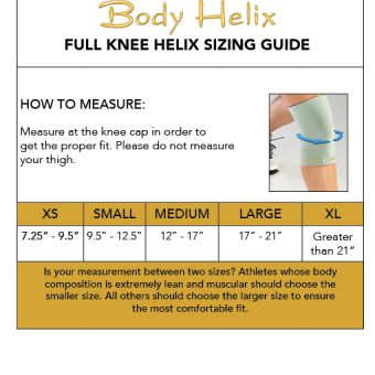 full knee compression sleeve sizing guide