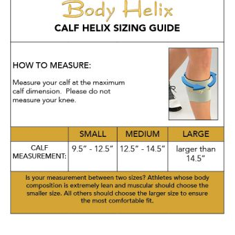 calf compression sleeve sizing guide