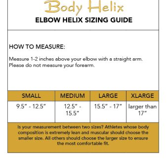 elbow compression sleeve sizing guide
