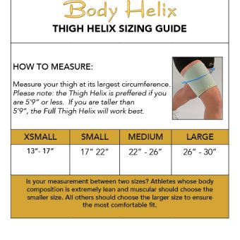 thigh compression sleeve sizing guide