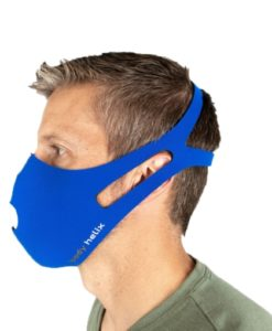 Side profile of a male wearing Body Helix's reusable & washable face mask